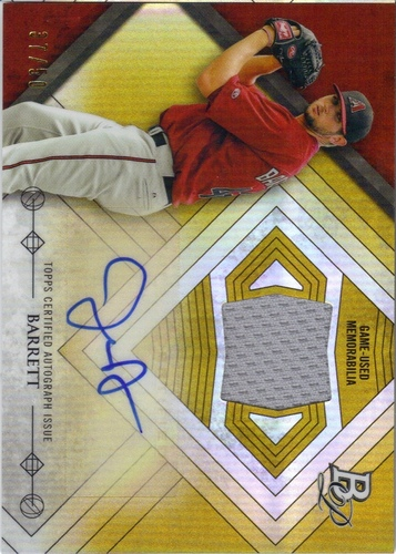 Photo of 2014 Bowman Platinum Relic Autographs Gold Refractors #ARJB Jake Barrett