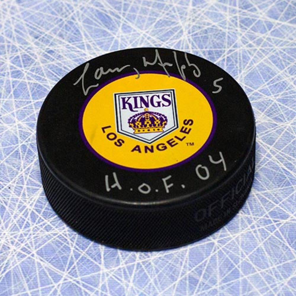 Larry Murphy Los Angeles Kings Autographed Retro Hockey Puck w/ HOF Inscription