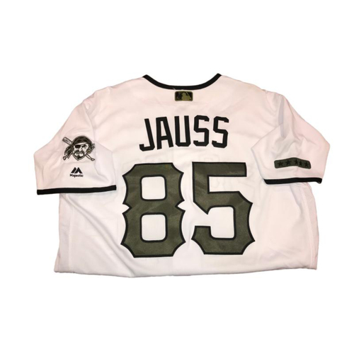 Photo of Dave Jauss Game-Used Memorial Day Jersey