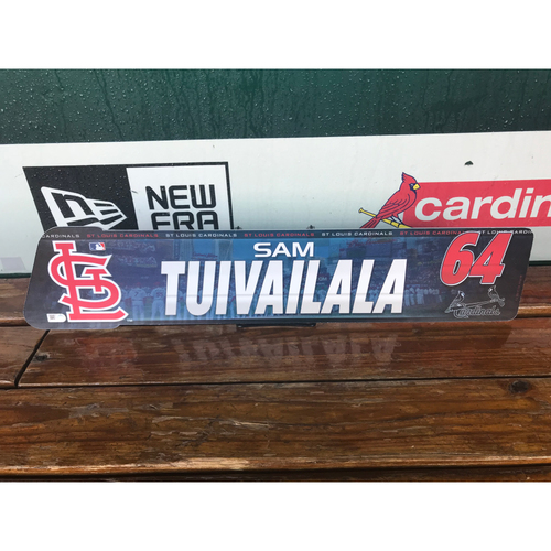 Cardinals Authentics: Sam Tuivailala Locker tag