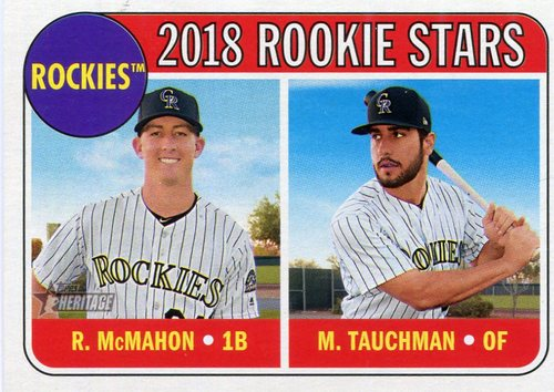 Photo of 2018 Topps Heritage #117 Mike Tauchman RC/Ryan McMahon RC