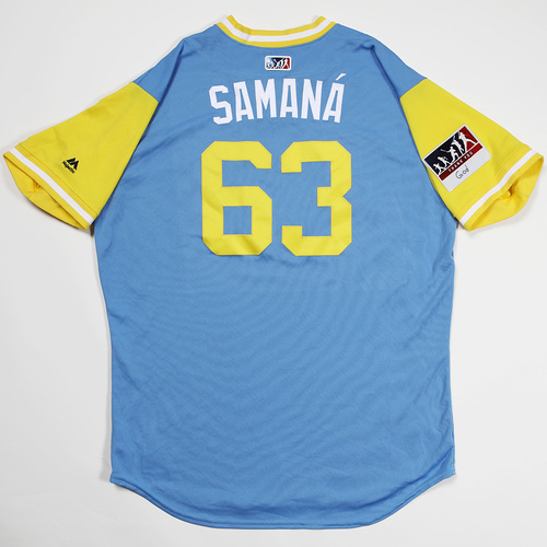 "Photo of Diego ""Samana"" Castillo Tampa Bay Rays Game-Used 2018 Players' Weekend Jersey"