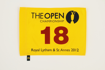 Photo of The 141st Open Official Souvenir Pin Flag - Royal Lytham & St Annes 2012