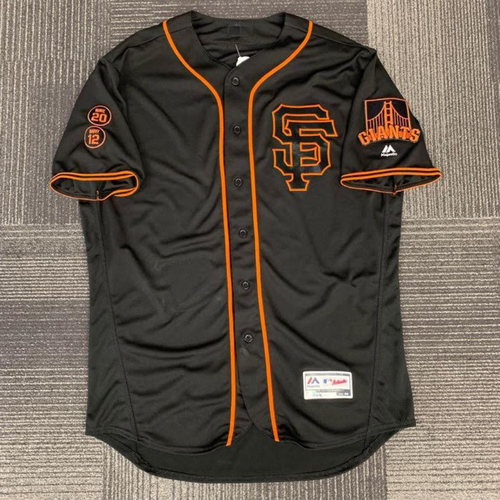 Photo of End of Year Auction - 2016 Game Used Black Alternate Home Jersey - worn by #8 Hunter Pence- size 48