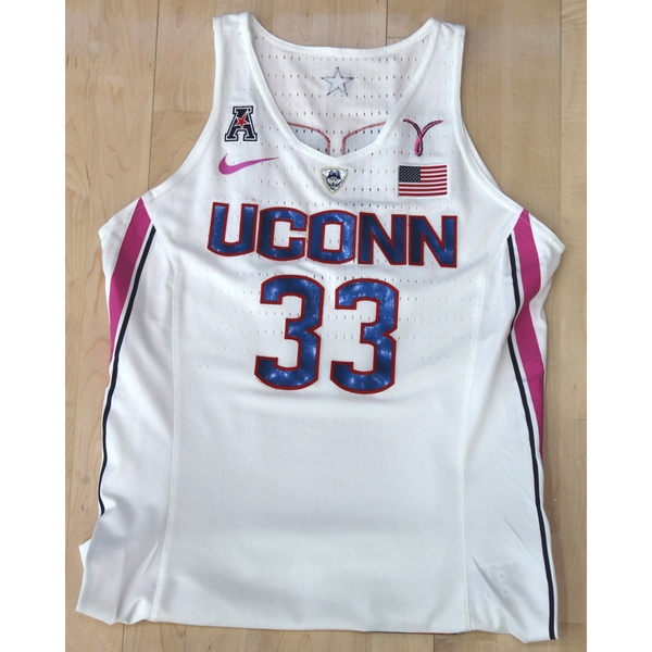 b7ea0c36c50 UConn Women's Basketball #33 Nike Jersey From The Pink Game Against Temple  On 2/