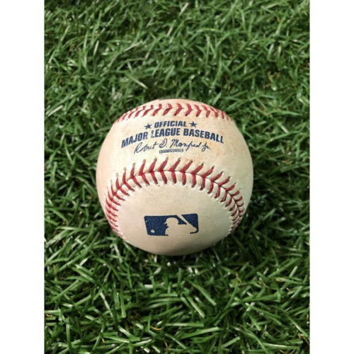 Photo of Game-Used Baseball: Charlie Blackmon single off Charlie Morton - April 3, 2019 v COL
