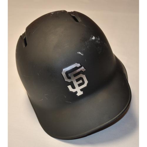 "Photo of Evan ""Longo"" Longoria San Francisco Giants Game-Used 2019 Players' Weekend Helmet"