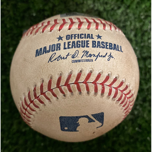 Photo of Adam Eaton Game Used Hit RBI Double Baseball - September 8, 2019