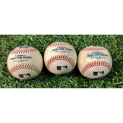 Photo of Game Used Baseball Package (3): Ji-Man Choi, Kevin Kiermaier and Yoshitomo Tsutsugo - July 27-28, 2020 v ATL