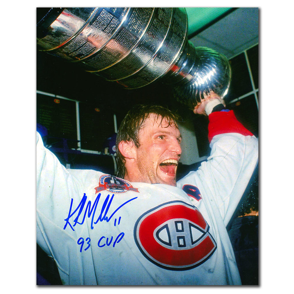 Kirk Muller Montreal Canadiens 1993 Cup Autographed 8x10