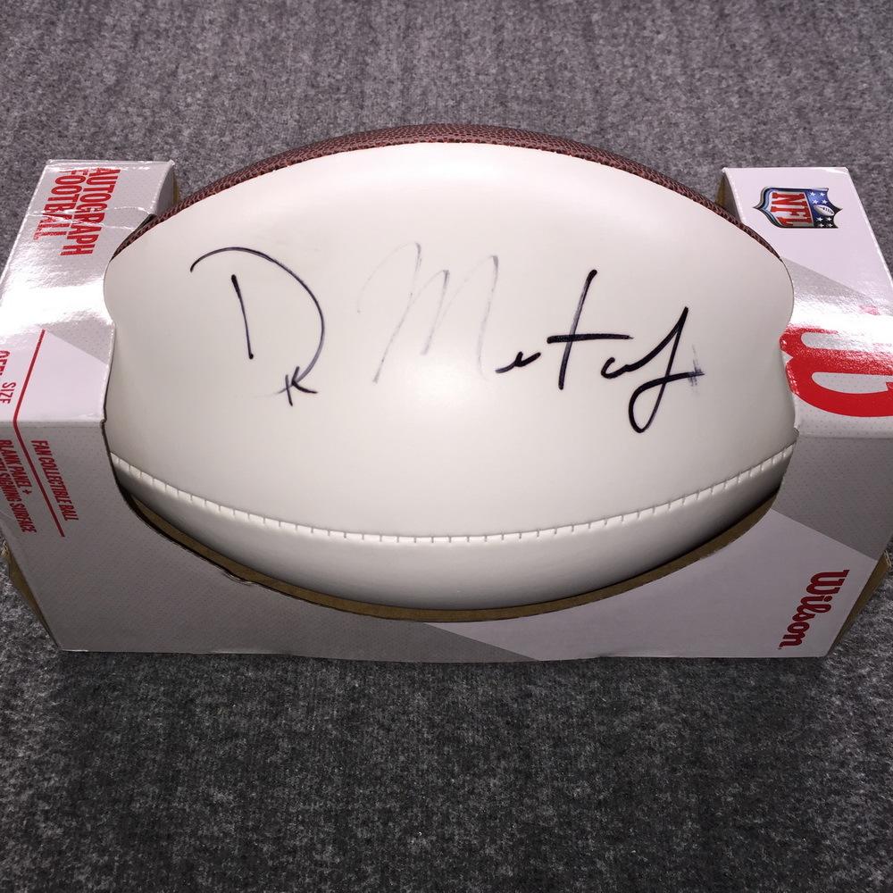 NFL - Bears David Montgomery Signed Panel Ball (Light Signature)