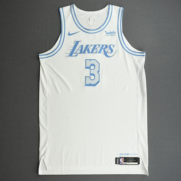 Image of Anthony Davis - Los Angeles Lakers - Christmas Day' 20 - Game-Worn City Edition Jersey - Scored Game-High 28 Points