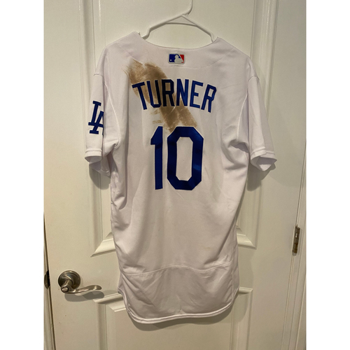 Photo of Justin Turner 2020 Game-Used Home Wild Card Game Jersey - Game 1