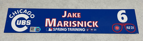 Photo of Jake Marisnick 2021 Spring Training Locker Nameplate