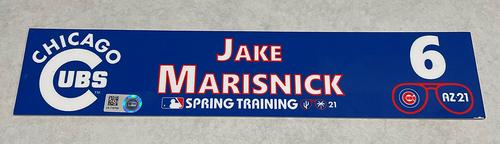 Photo of Jake Marisnick 2021 Spring Training Locker Nameplate