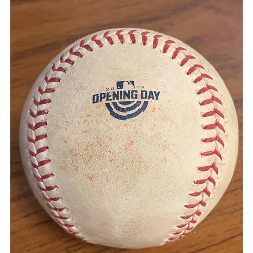 Photo of Toronto Blue Jays at Boston Red Sox April 9, 2019 Game Used Ball