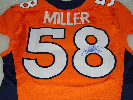 NFL Auction | NFL - BRONOCS VON MILLER SIGNED AUTHENTIC BRONCOS ...