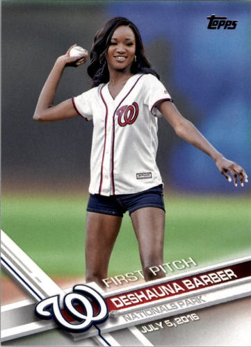 Photo of 2017 Topps First Pitch #FP5 Deshauna Barber