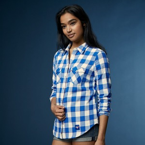 Toronto Blue Jays Ladies Buffalo Western Plaid Shirt by Levi's