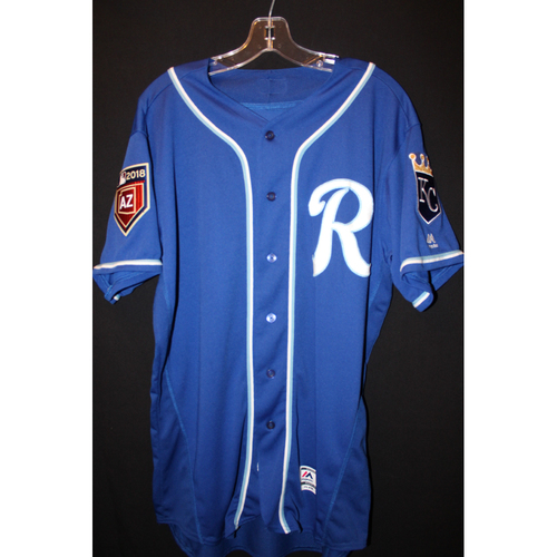 Photo of Game-Used Spring Training Jersey: Alcides Escobar (Size 46)