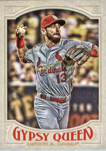 Photo of 2016 Topps Gypsy Queen #60A Matt Carpenter/Red cap