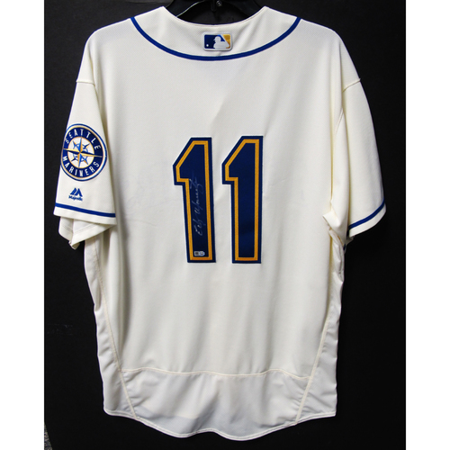 Photo of Seattle Mariners Edgar Martinez Autographed 2016 Cream Team Issued Jersey