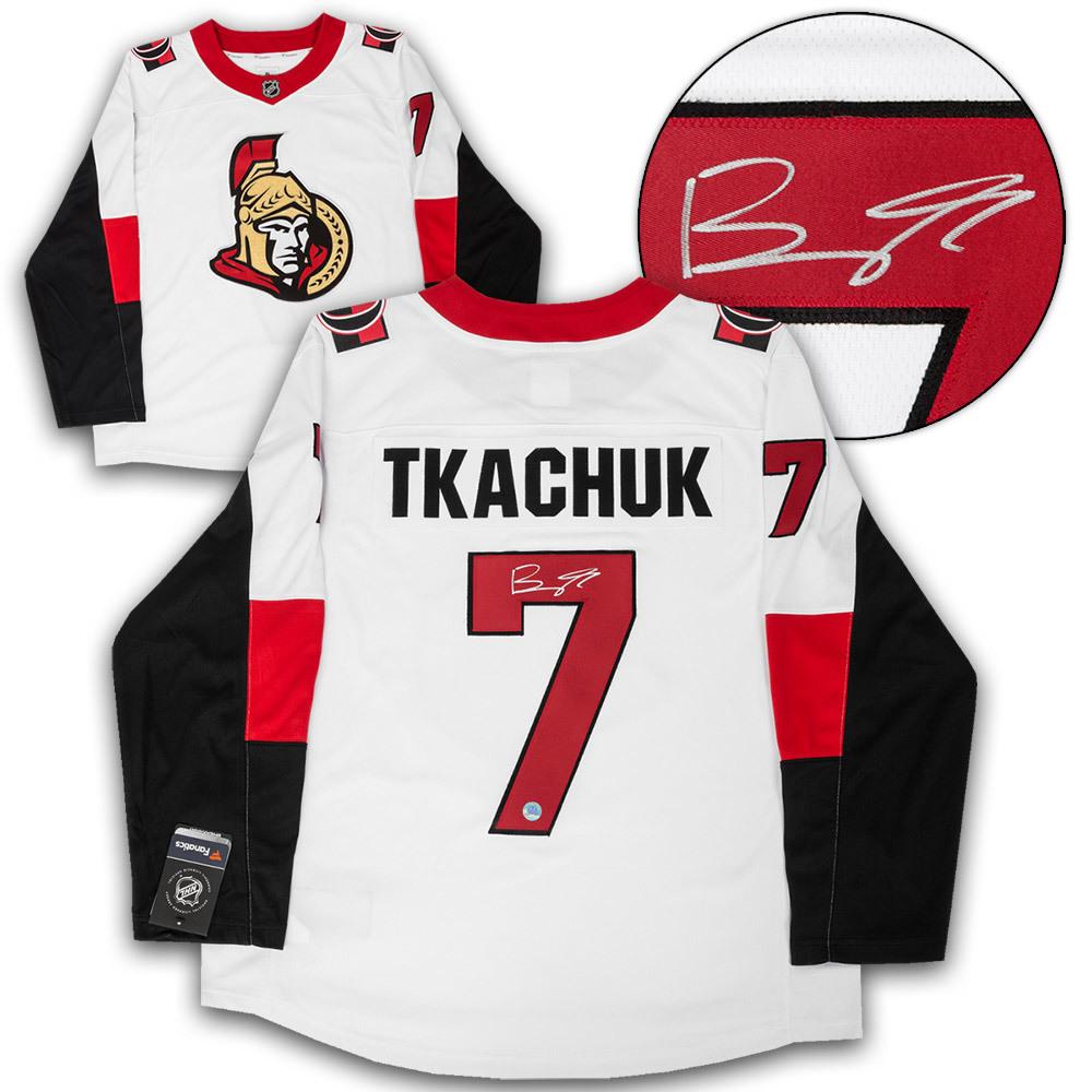 Brady Tkachuk Ottawa Senators Autographed White Fanatics Hockey Jersey