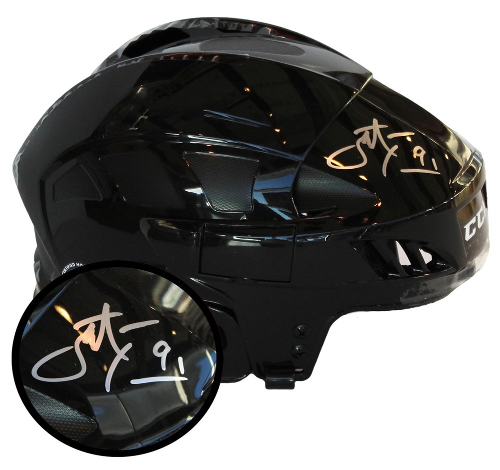 John Tavares Signed Helmet Canada Black CCM