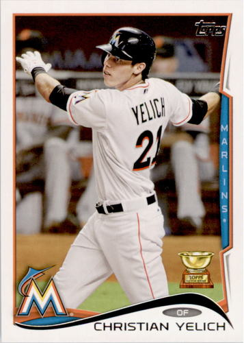 Photo of 2014 Topps #358A Christian Yelich