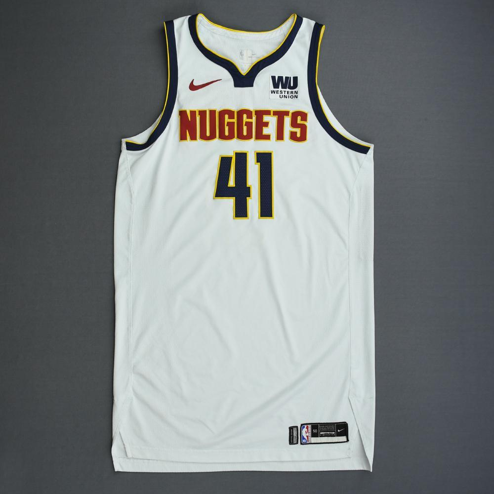 Juan Hernangomez - Denver Nuggets - 2019 NBA Playoffs - Game-Worn White Association Edition Jersey - Dressed, Did Not Play