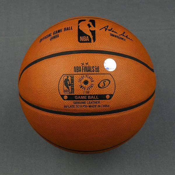 2019 Nba Finals Game 1 Game Used Basketball Nba Auctions