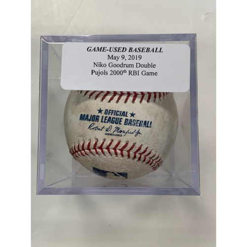 Photo of Game-Used Baseball: Niko Goodrum Double