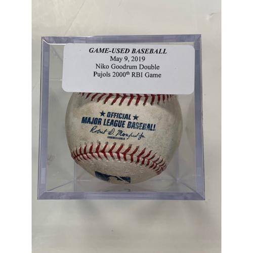 Game-Used Baseball: Niko Goodrum Double