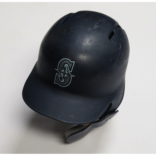 Photo of 2018 Team-Issued Navy Batting Helmet: Ryon Healy
