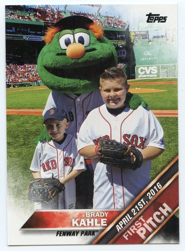 Photo of 2016 Topps Update First Pitch #FP4 Brady Kahle