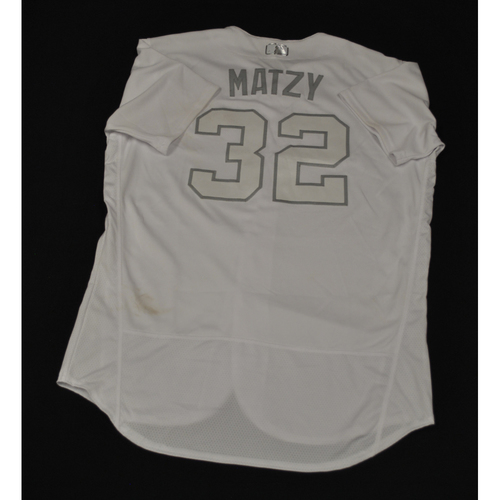 "Photo of Steven ""MATZY"" Matz New York Mets Game-Used 2019 Players' Weekend Jersey"