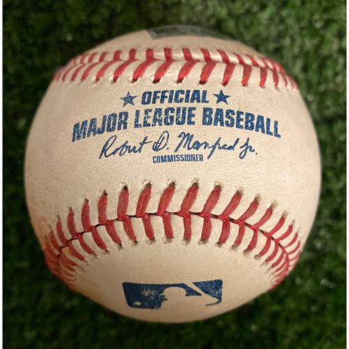Photo of Juan Soto Game Used Hit RBI Single Baseball - May 29, 2019