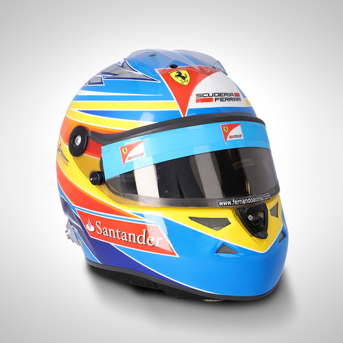Photo of Fernando Alonso 2011 Race Used Helmet