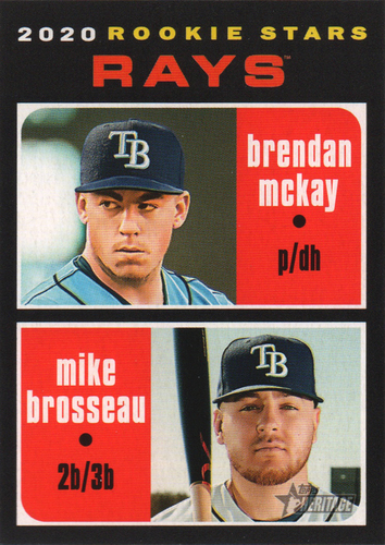 Photo of 2020 Topps Heritage #161 Mike Brosseau RC/Brendan McKay RC
