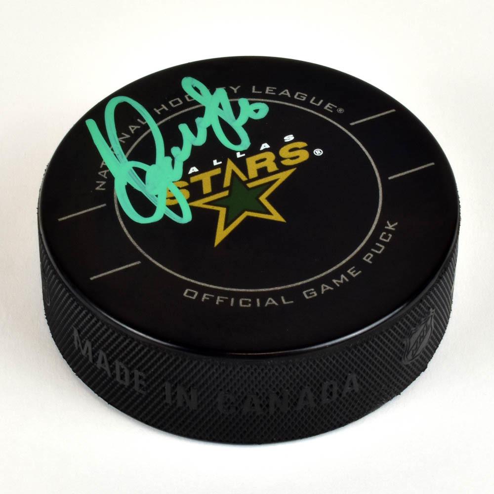 Sergei Zubov Dallas Stars Autographed Game Model Hockey Puck
