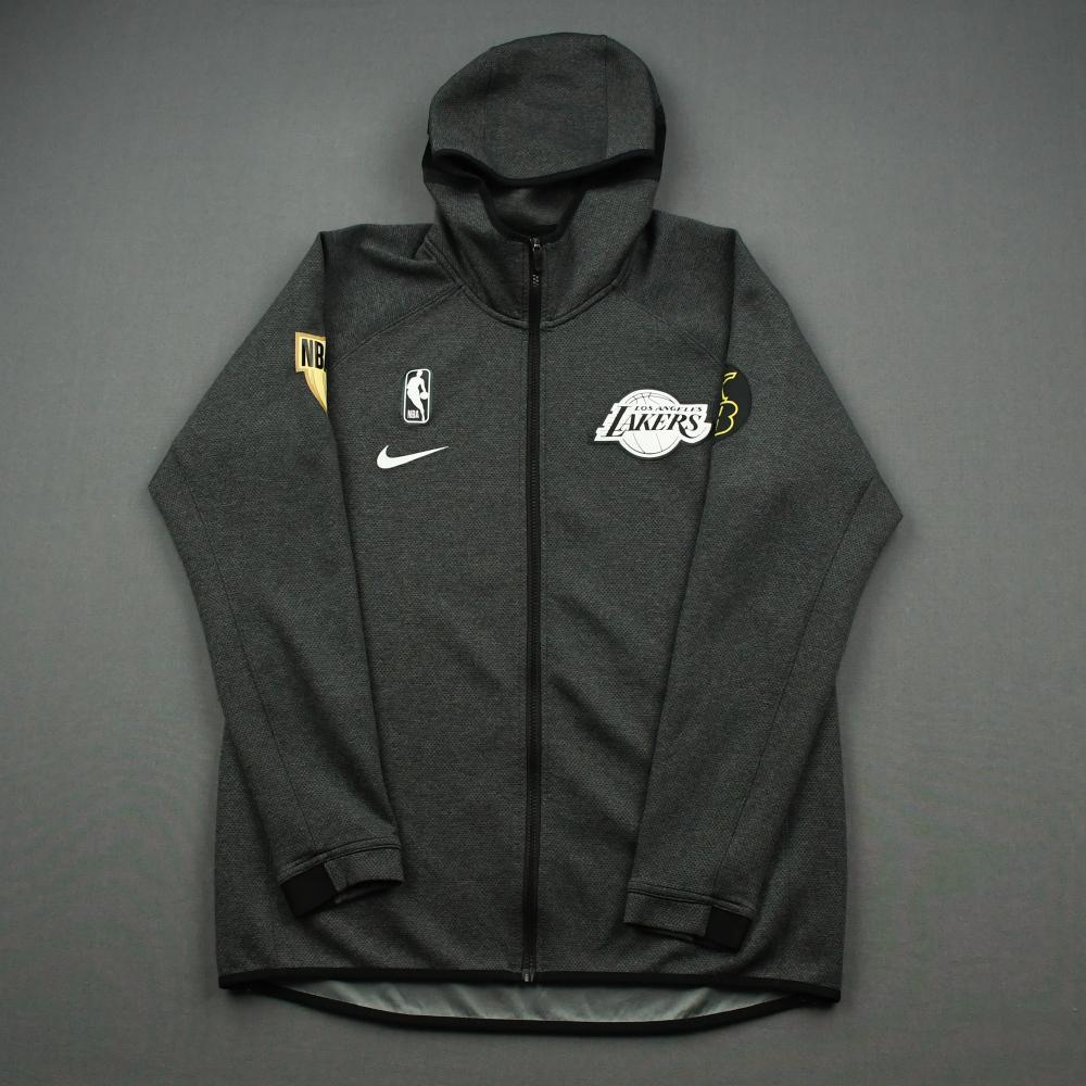 Quinn Cook - Los Angeles Lakers - 2020 NBA Finals Game 6 - Game-Worn Hooded Warmup Jacket