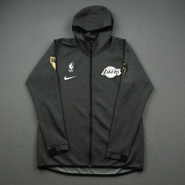 Image of Quinn Cook - Los Angeles Lakers - 2020 NBA Finals Game 6 - Game-Worn Hooded Warmup Jacket