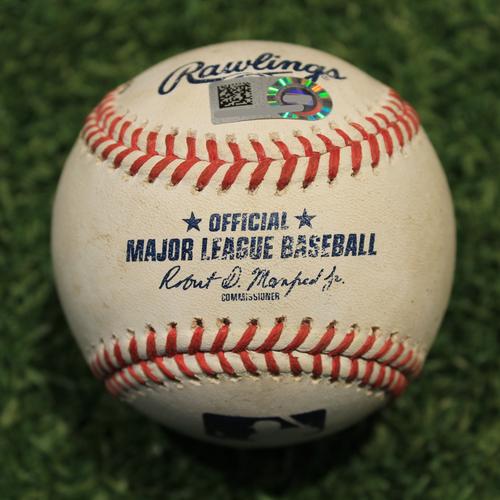 Game-Used Baseball: AL Gold Glove Award Winner Cesar Hernandez 844th Career Hit (CLE @ KC 8/31/20)