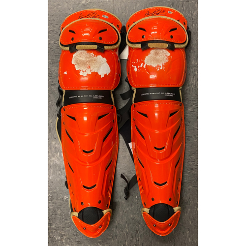 Photo of 2020 Cyber Monday Sale - #16 Aramis Garcia Team Issued Autographed Orange Shin Guards
