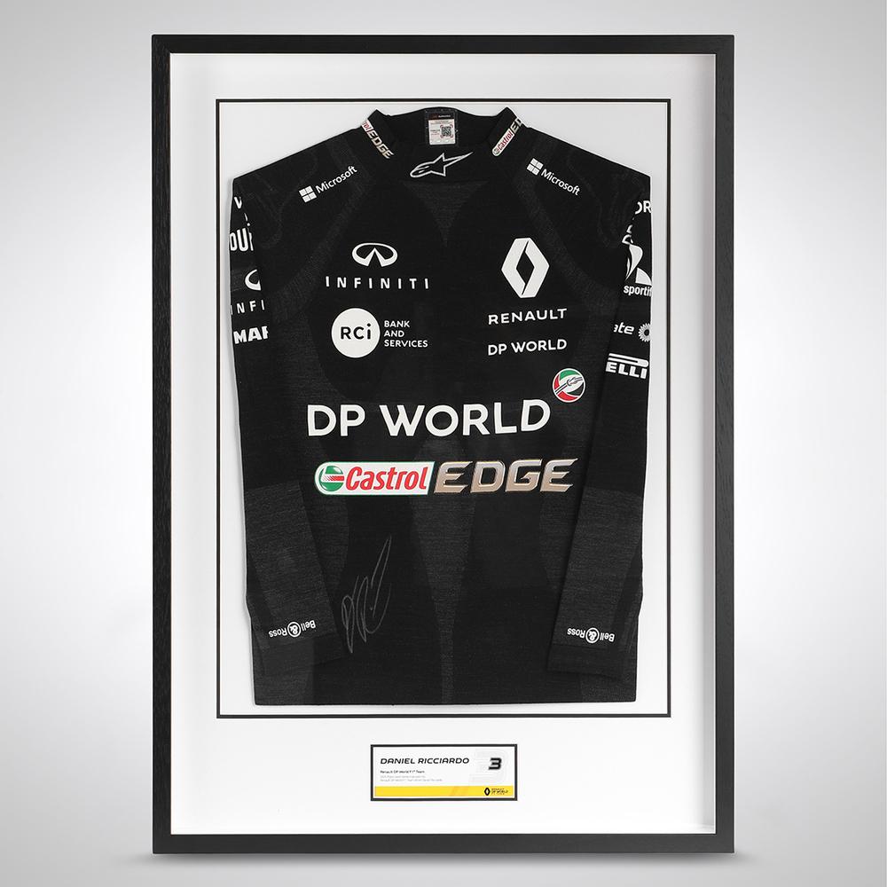 Daniel Ricciardo 2020 Framed Signed Race-worn Nomex - Tuscan GP