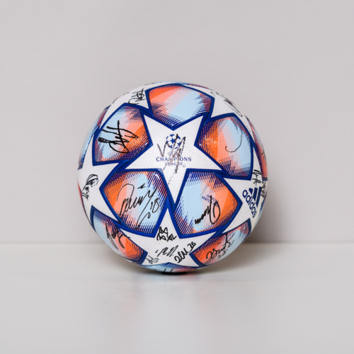 Photo of 20/21 Champions League Ball signed by the FC Midtjylland Team