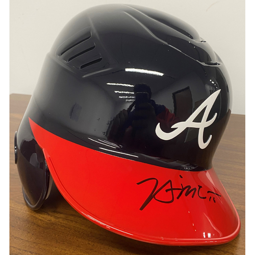 Photo of Brian McCann Autographed Helmet