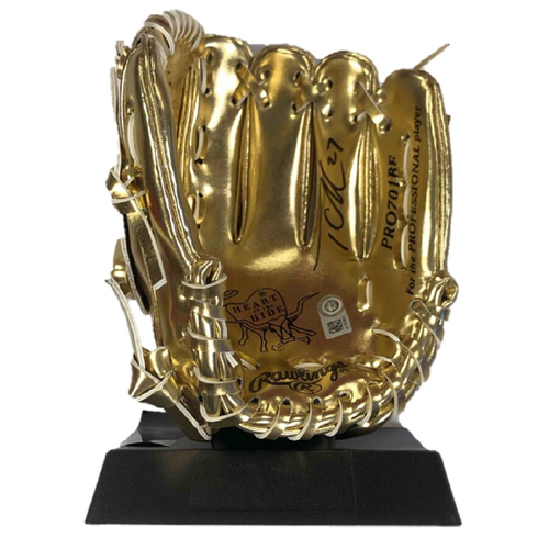 Photo of Cardinals Authentics: Tyler O'Neill Autographed Mini Gold Glove