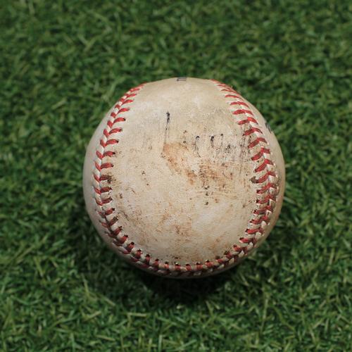 Photo of Game-Used Baseball: Franmil Reyes 359th Career Hit (CLE@KC 9/29/21)