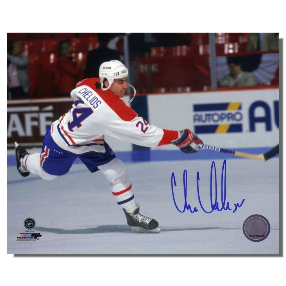 Chris Chelios Autographed Montreal Canadians 8x10 Photo